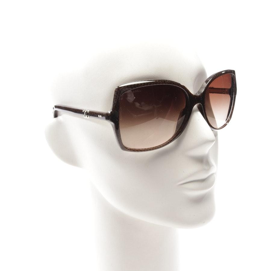 Sonnenbrille von Chanel in Braun meliert - 5245