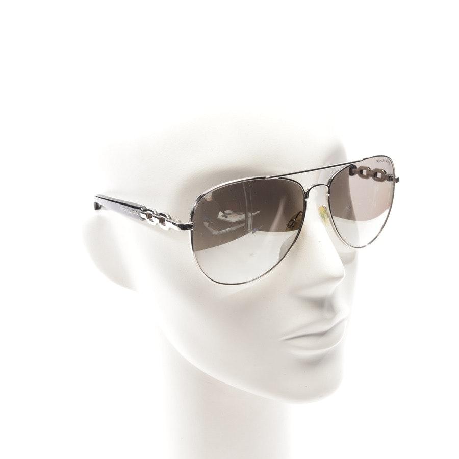 Sonnenbrille von Michael Kors in Schwarz und Silber - Fiji