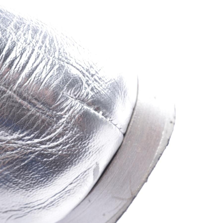Schnürschuhe von Chanel in Silber und Schwarz Gr. D 38,5