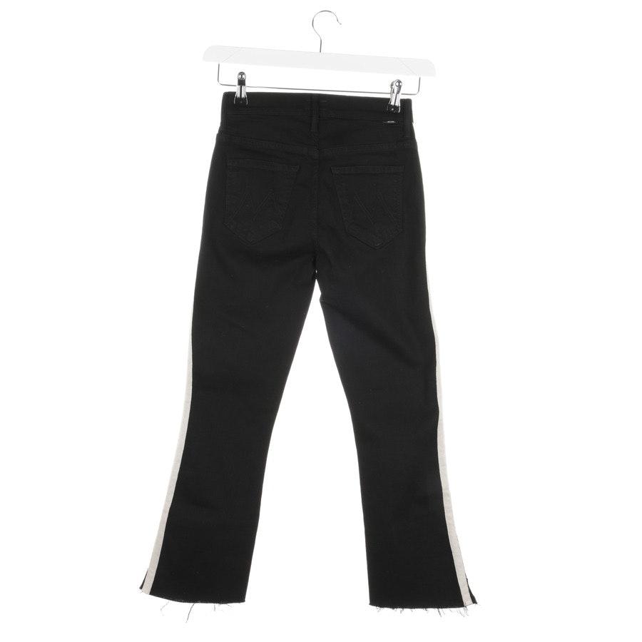 Jeans von Mother in Schwarz und Weiß Gr. W25 - Insider Crop Step Fray