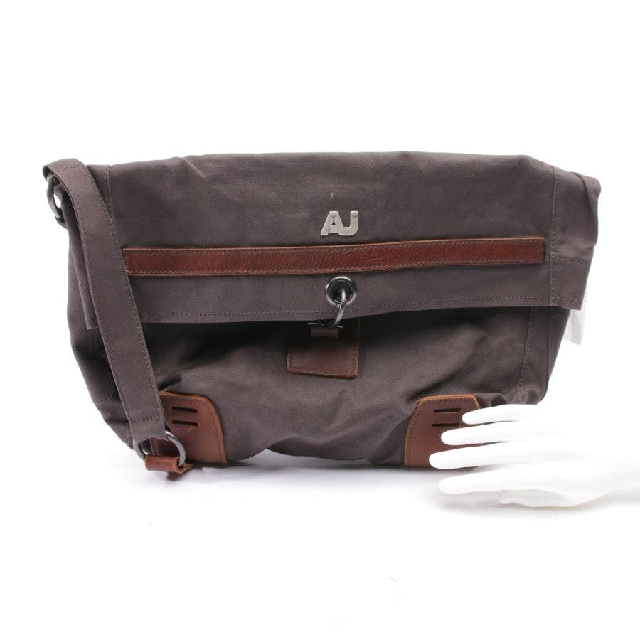 Messenger bag von Armani Jeans in Grau und Braun