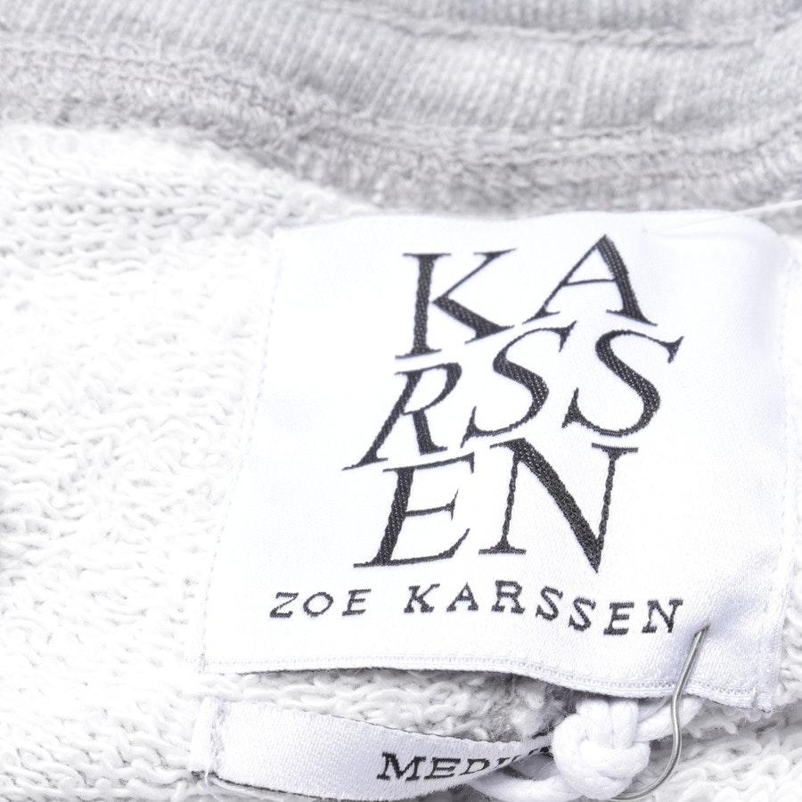 Jogginghose von Zoe Karssen in Grau meliert und Weiß Gr. M - Neu
