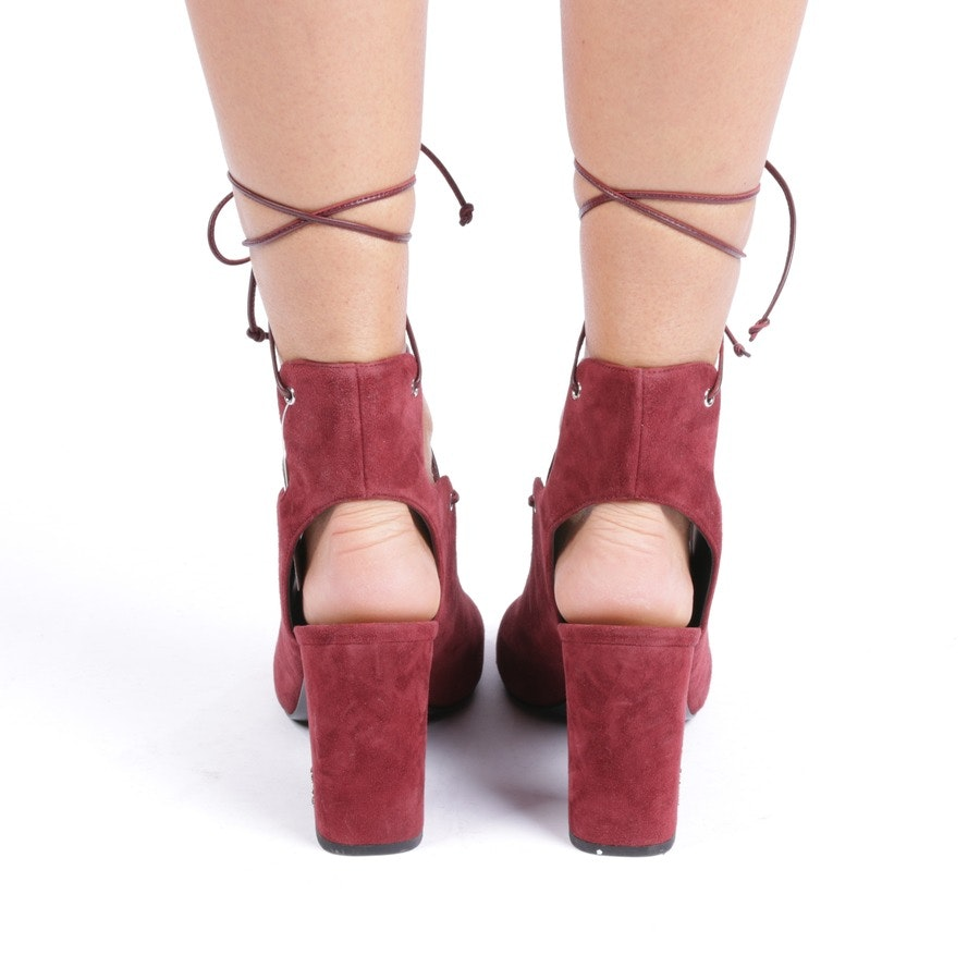 heeled sandals from Saint Laurent in wine red size D 40