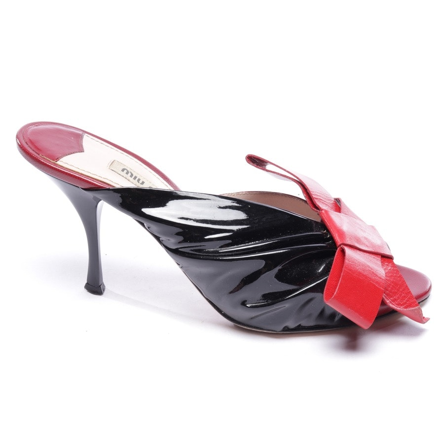 heeled sandals from Miu Miu in red and black size EUR 37