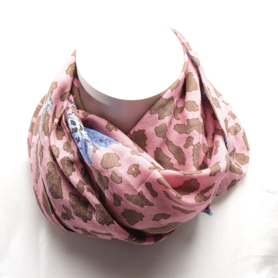 scarf from Roeckl in pink and brown