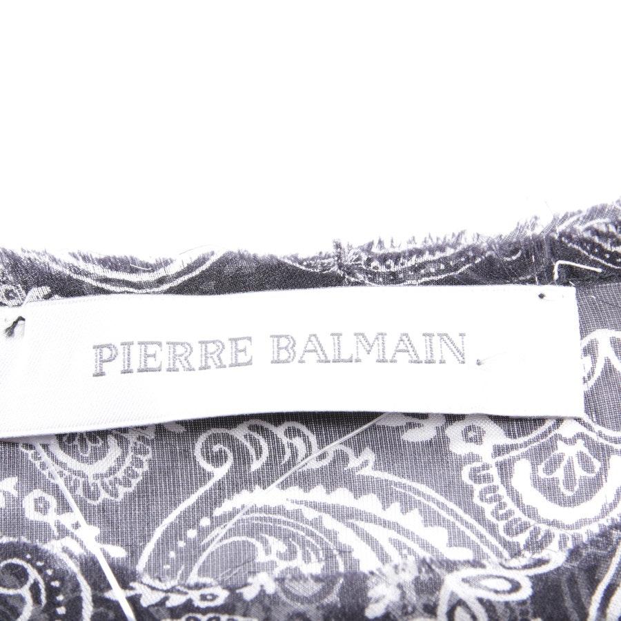 Seidenshirt von Pierre Balmain in Schwarz und Weiß Gr. DE 32 IT 38 - Neu - mit Etikett
