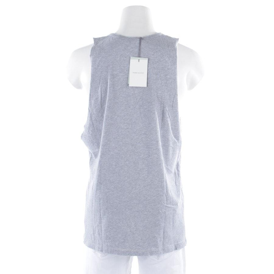 Shirt von Pierre Balmain in Grau meliert und Schwarz Gr. L - Neu - Canotta