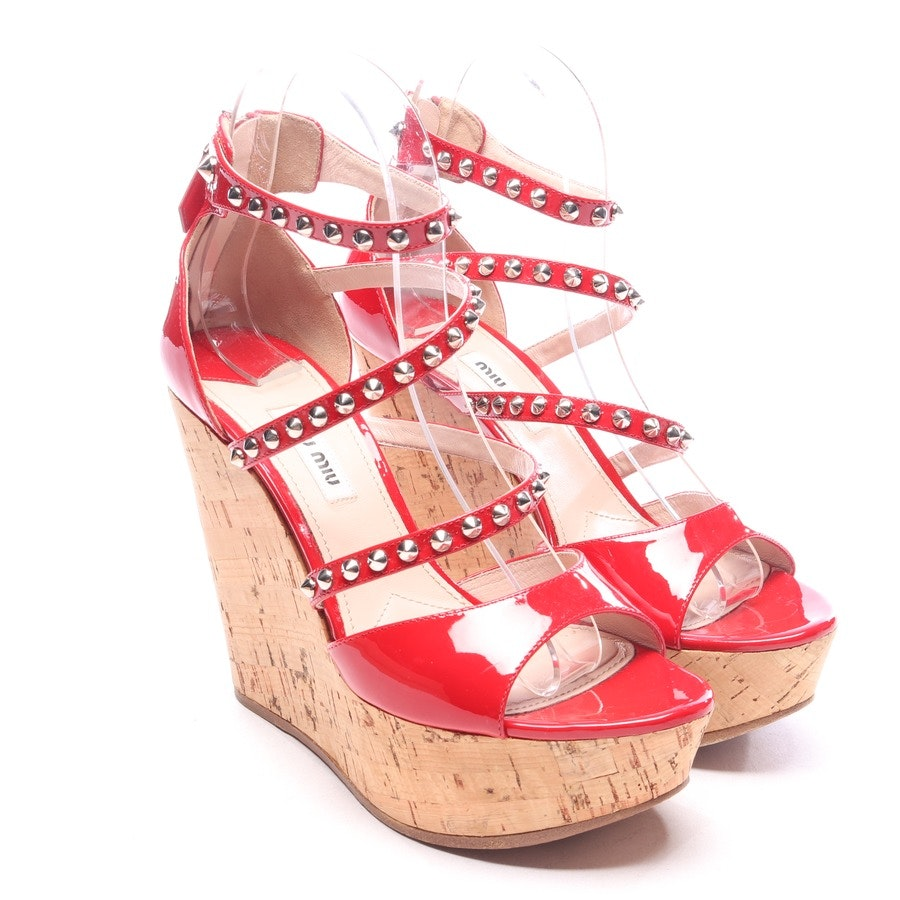 heeled sandals from Miu Miu in red size EUR 37,5
