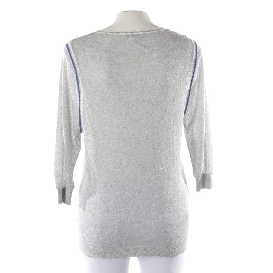 Pullover von Iheart in Graumelange und Blau Gr. M