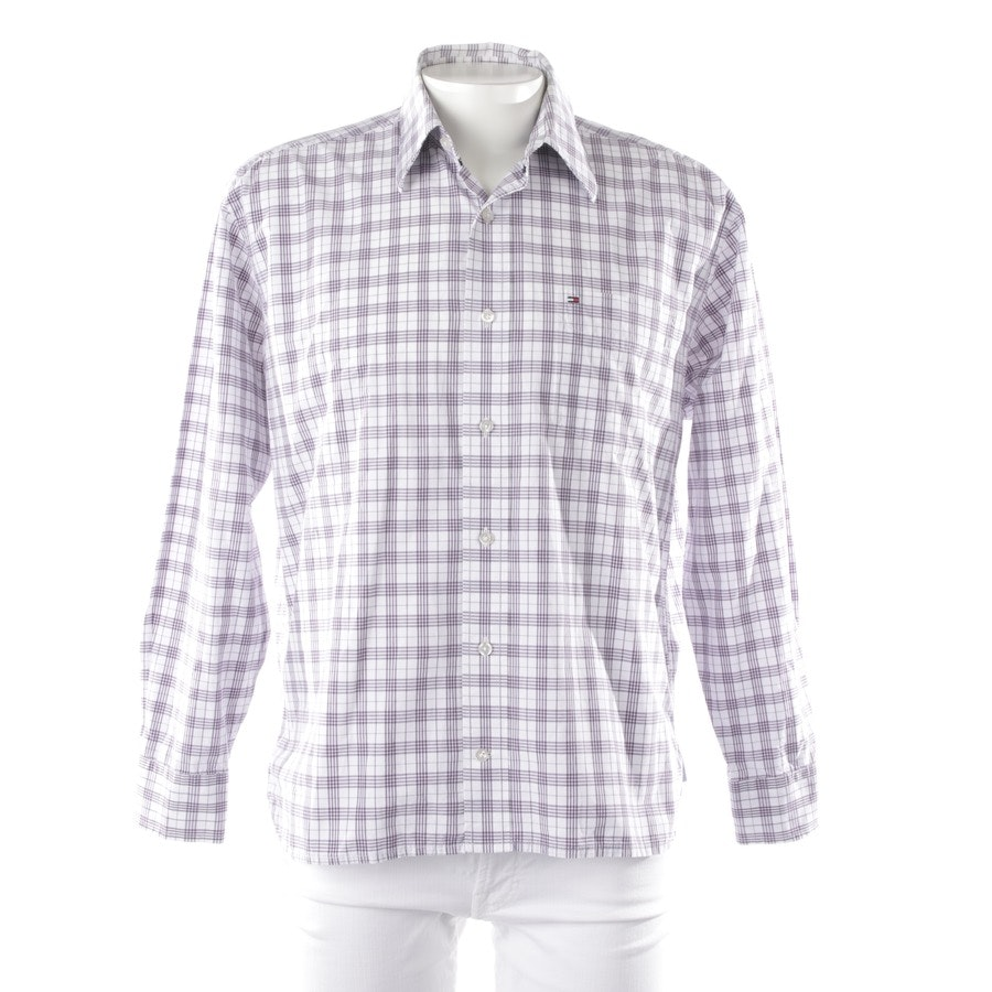 casual shirt from Tommy Hilfiger in white and purple size M