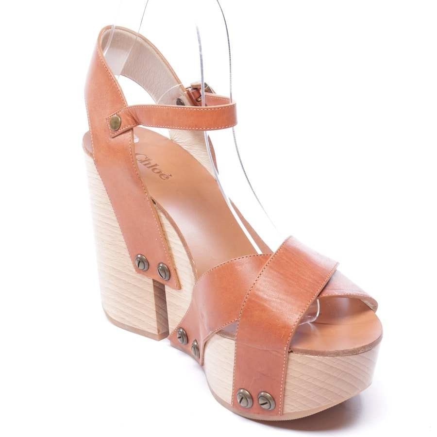 heeled sandals from Chloé in cognac size EUR 39