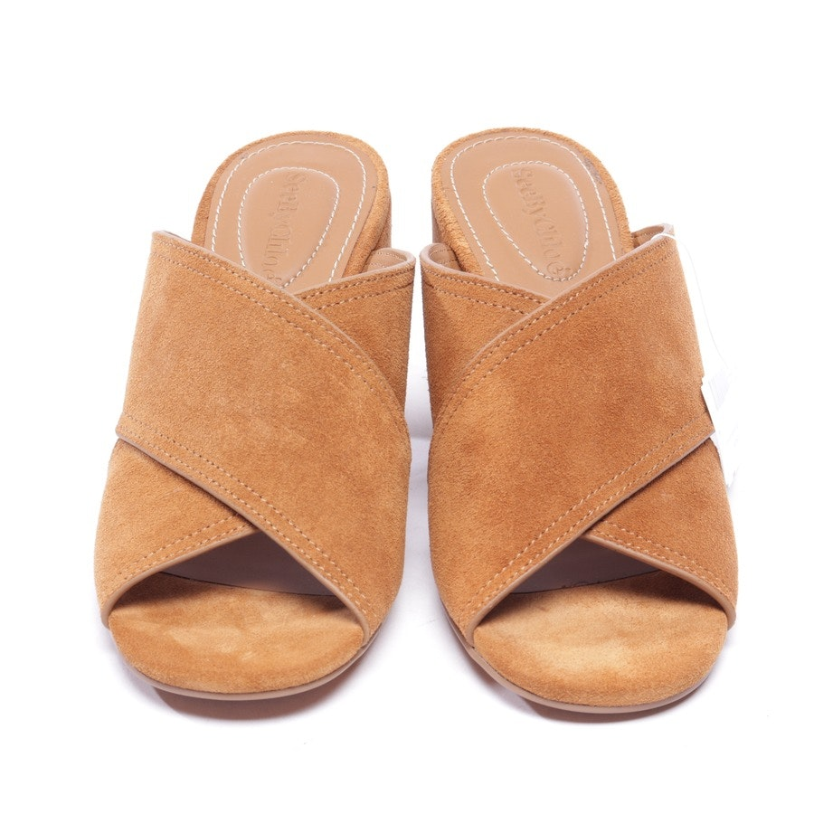 heeled sandals from See by Chloé in brown size EUR 37
