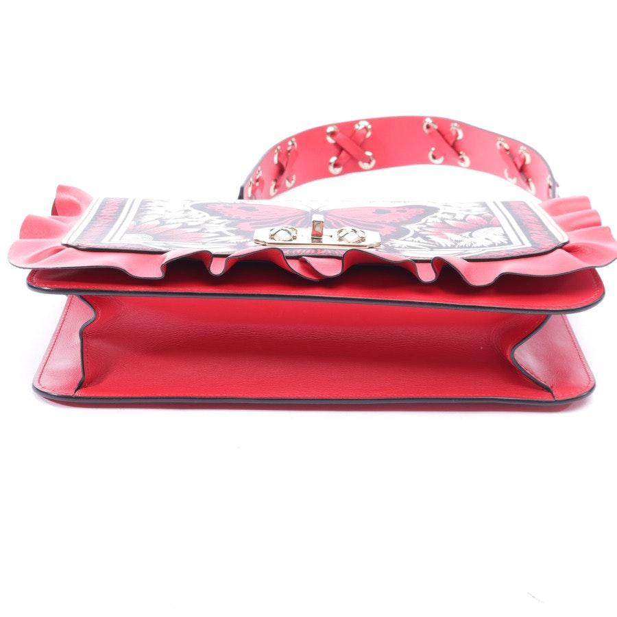 shoulder bag from Red Valentino in red and black - rock ruffles