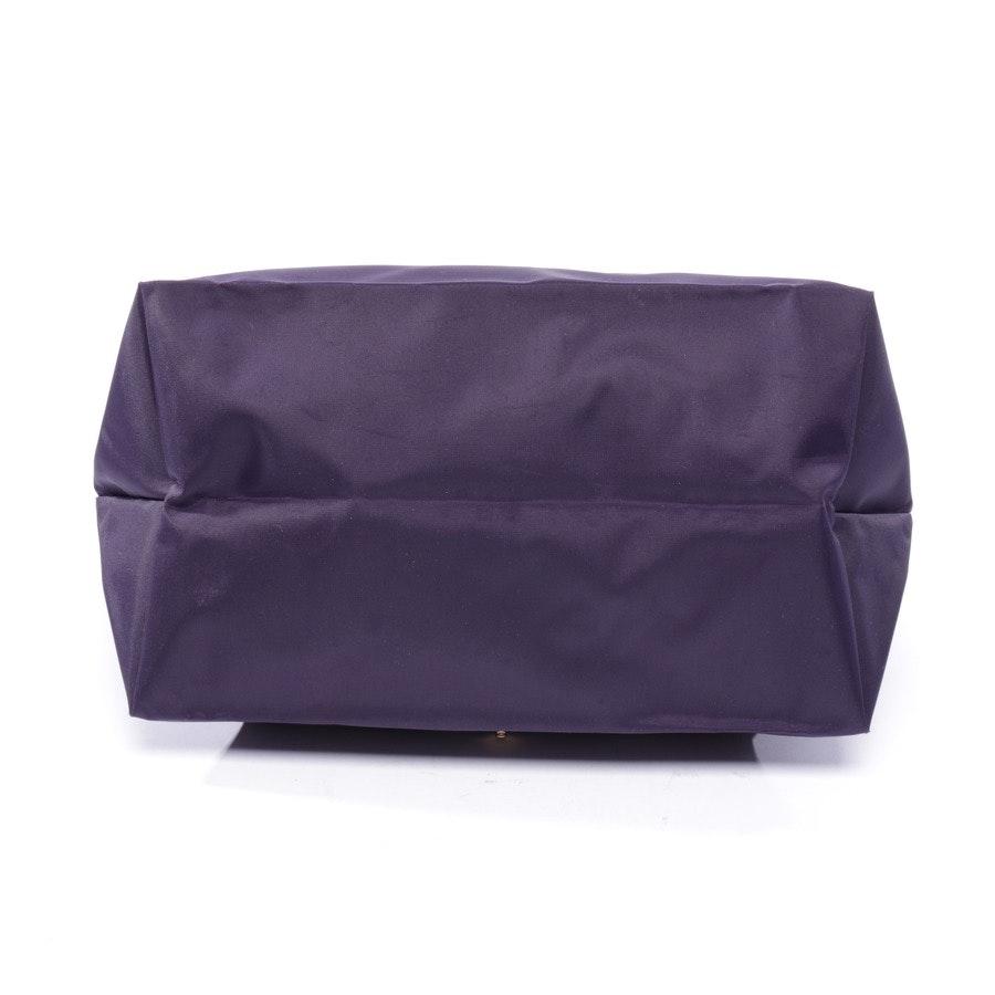 Handtasche von Longchamp in Lila und Braun - Le Pliage M