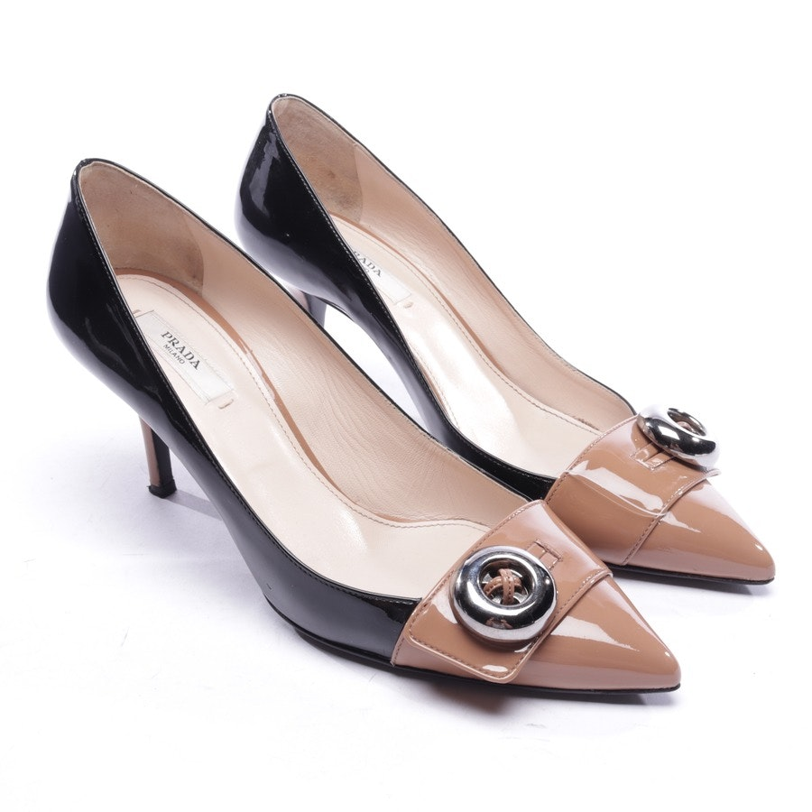 pumps from Prada in black and beige size EUR 37