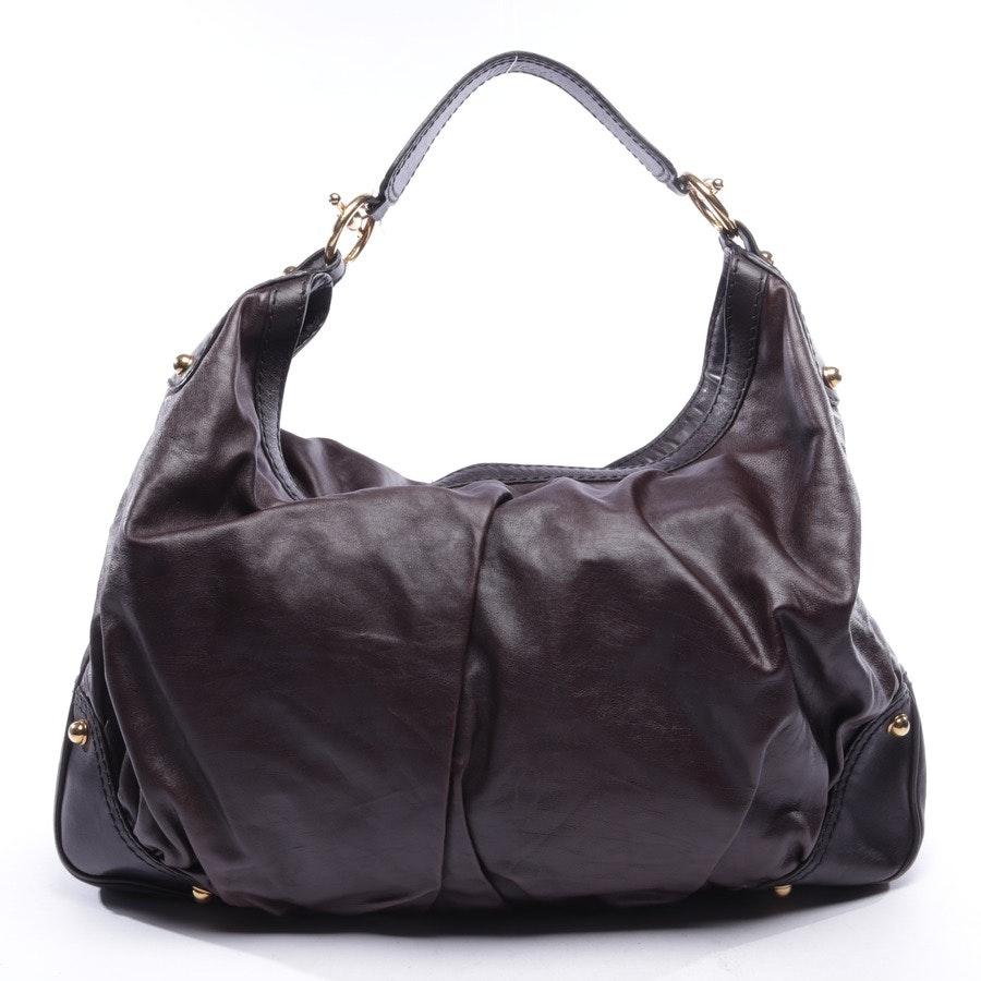 Schultertasche von Gucci in Dunkelbraun - Jockey Hobo Bag