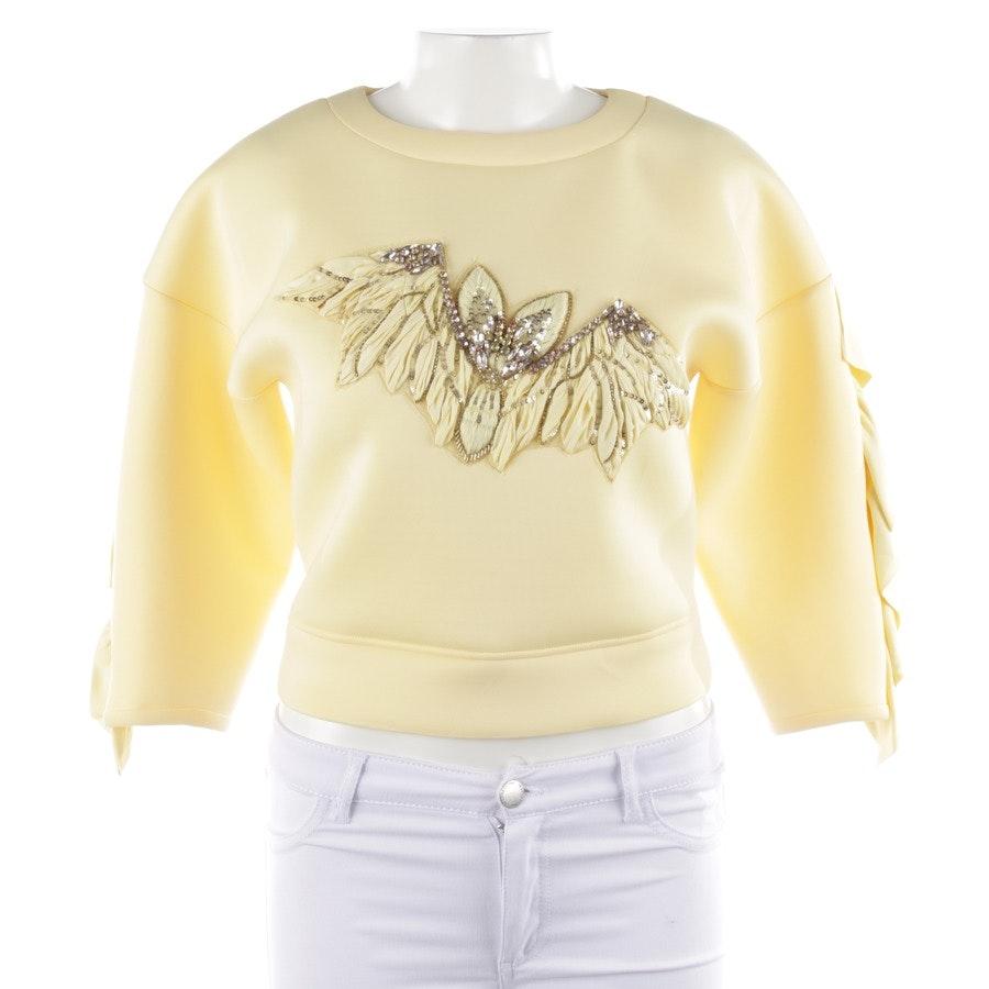 Sweatshirt von Elisabetta Franchi in Pastellgelb Gr. 34 IT 40 - Neu