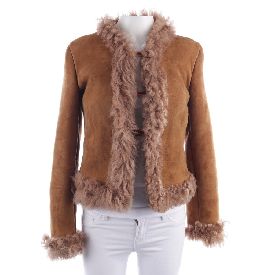 leather jacket from Miu Miu in caramel size 34 IT 40