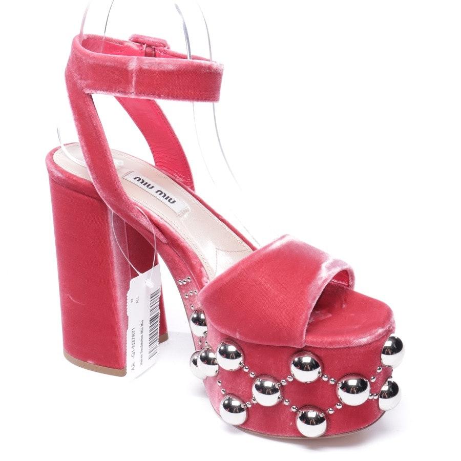 heeled sandals from Miu Miu in fuchsia size EUR 37 - new