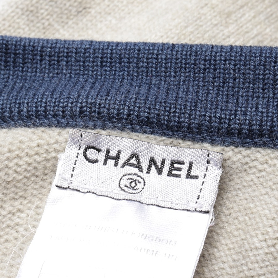 knitwear from Chanel in beige grey and blue size 36 FR 38