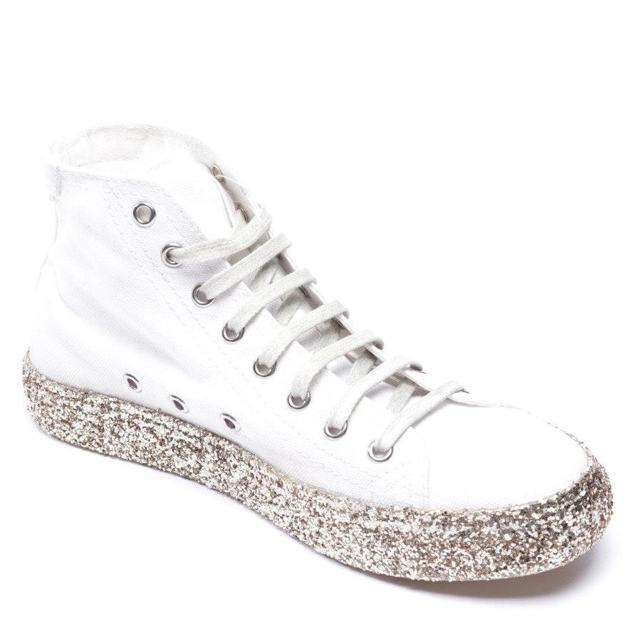 High-Top Sneaker von Saint Laurent in Weiß und Gold Gr. EUR 37 - Neu