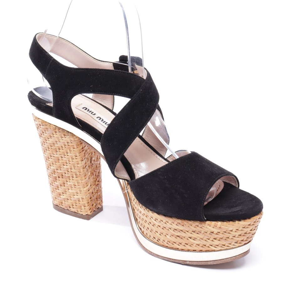 heeled sandals from Miu Miu in black size EUR 38,5