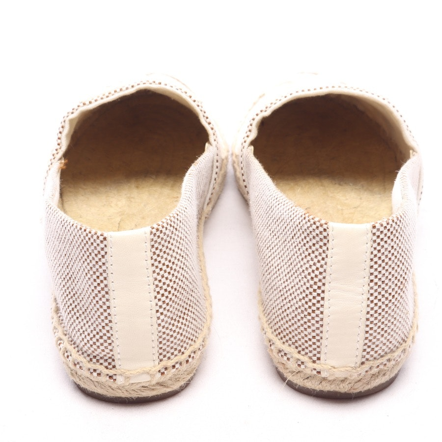 loafers from Tory Burch in cream white and brown size EUR 38 US 7,5