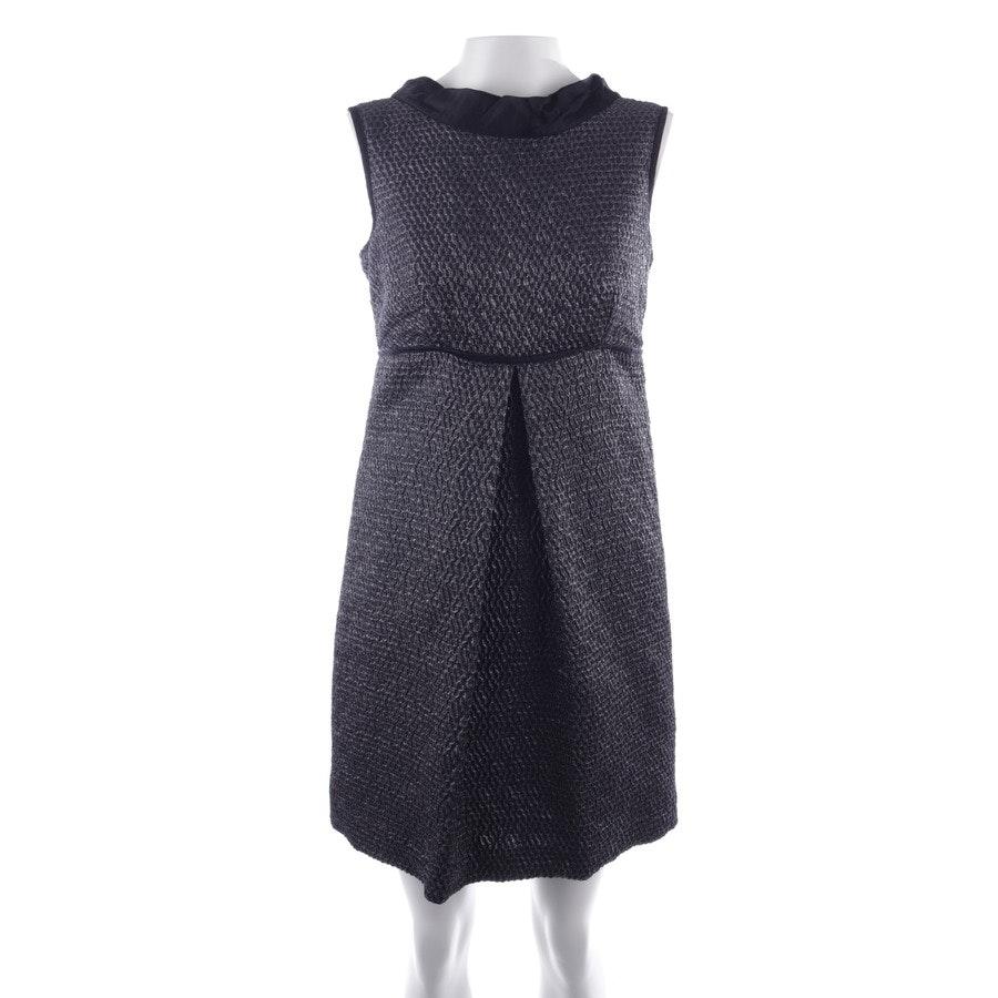 Kleid von Prada in Schwarz und Silber Gr. 34 IT 40
