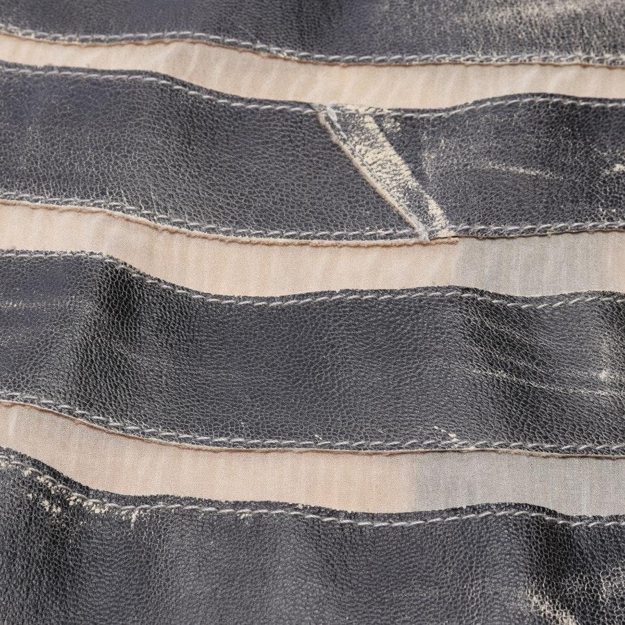 Lederrock von Jitrois in Schwarz und Grau Gr. 38 FR 40