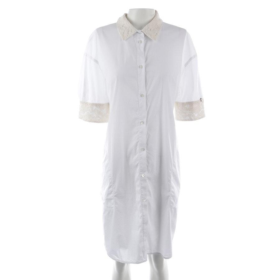 Hemdkleid von Twin Set in Weiß und Beige Gr. M
