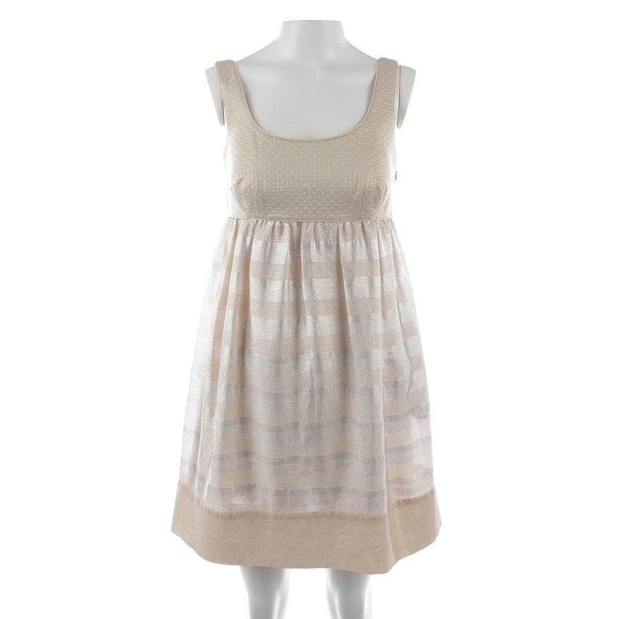 Kleid von Diane von Furstenberg in Gold und Weiß Gr. 34 US 4