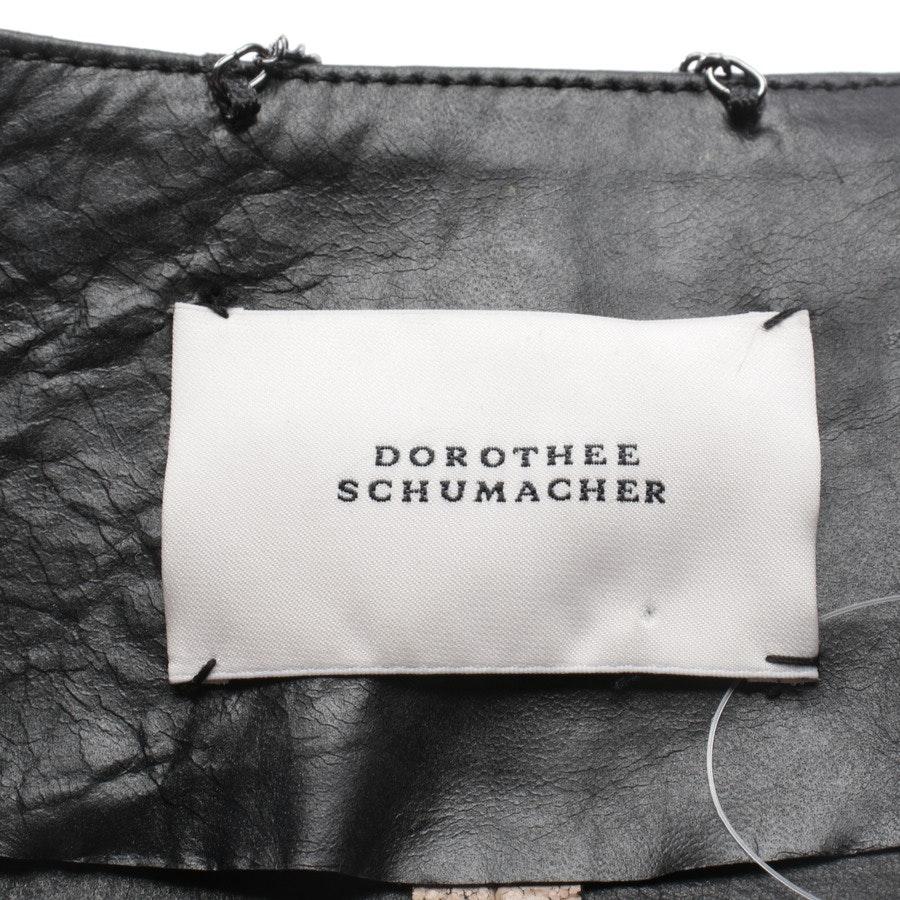 Lederjacke von Dorothee Schumacher in Altrosa und Schwarz Gr. 38 / 3