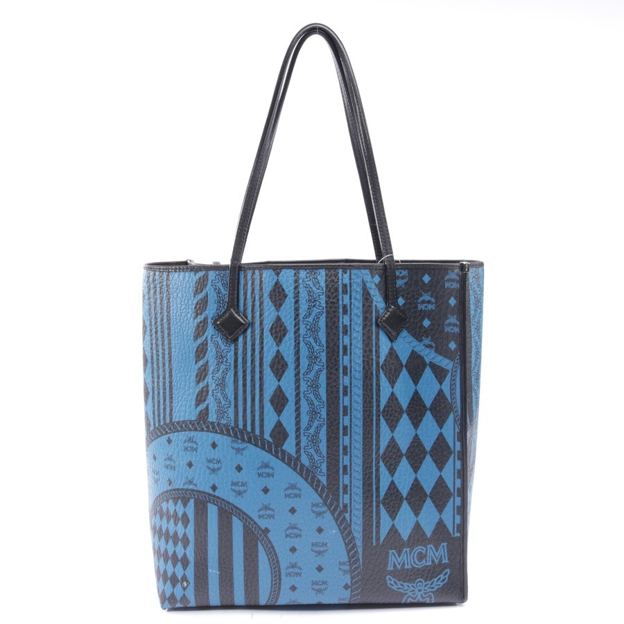 shopper from MCM in petrol and black