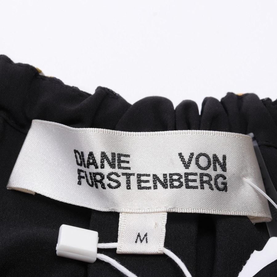 Seidenblusenshirt von Diane von Furstenberg in Schwarz und Multicolor Gr. M - Neu