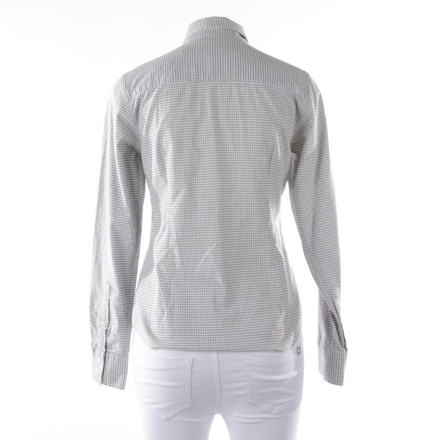 Bluse von Gant in Grau und Weiß Gr. 36