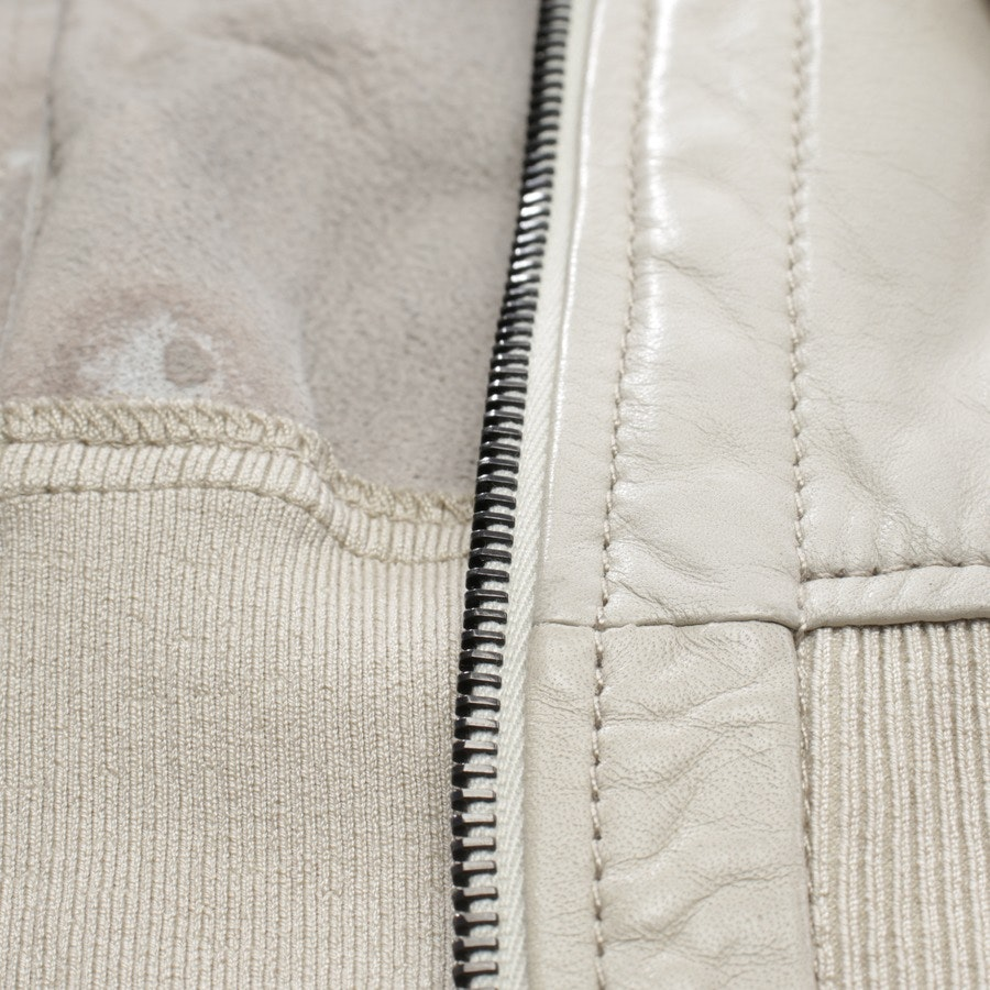 leather jacket from Drome in beige size M - leather