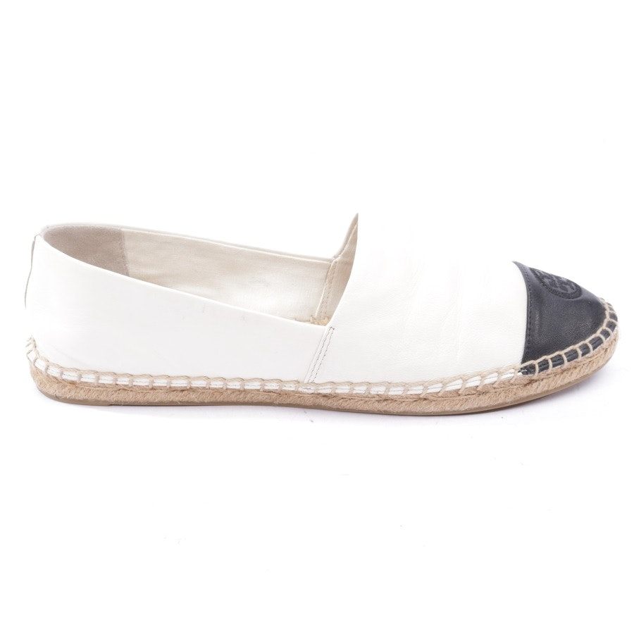 loafers from Tory Burch in cream and black size EUR 41,5 US 11
