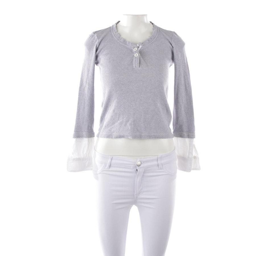 Shirt langarm von High Use in Grau und Weiß Gr. S