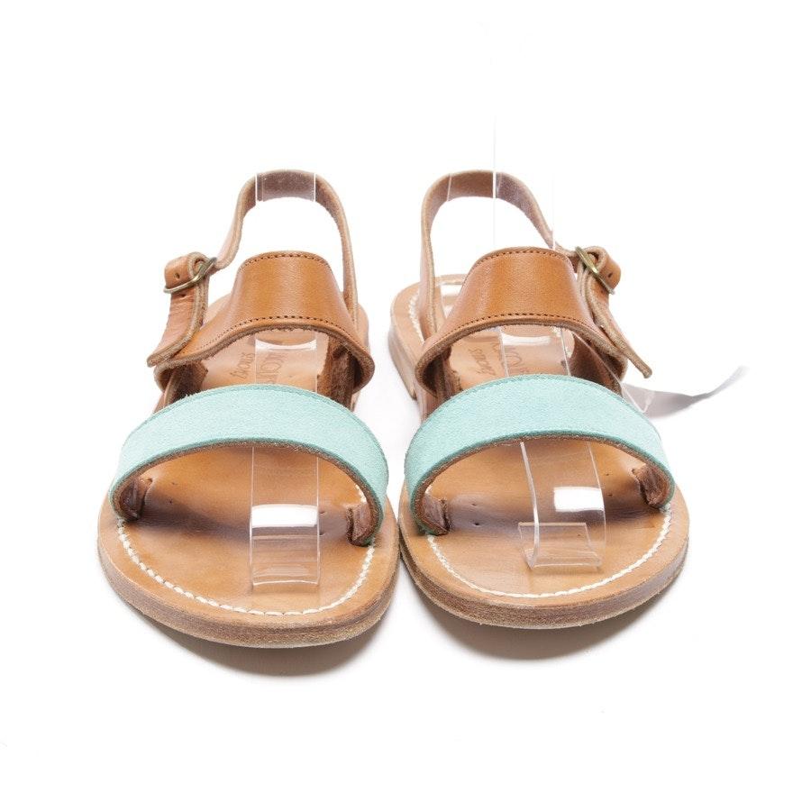 Sandalen von K. Jacques St. Tropez in Türkis und Braun Gr. D 38 - Barigoule Vel Atollo