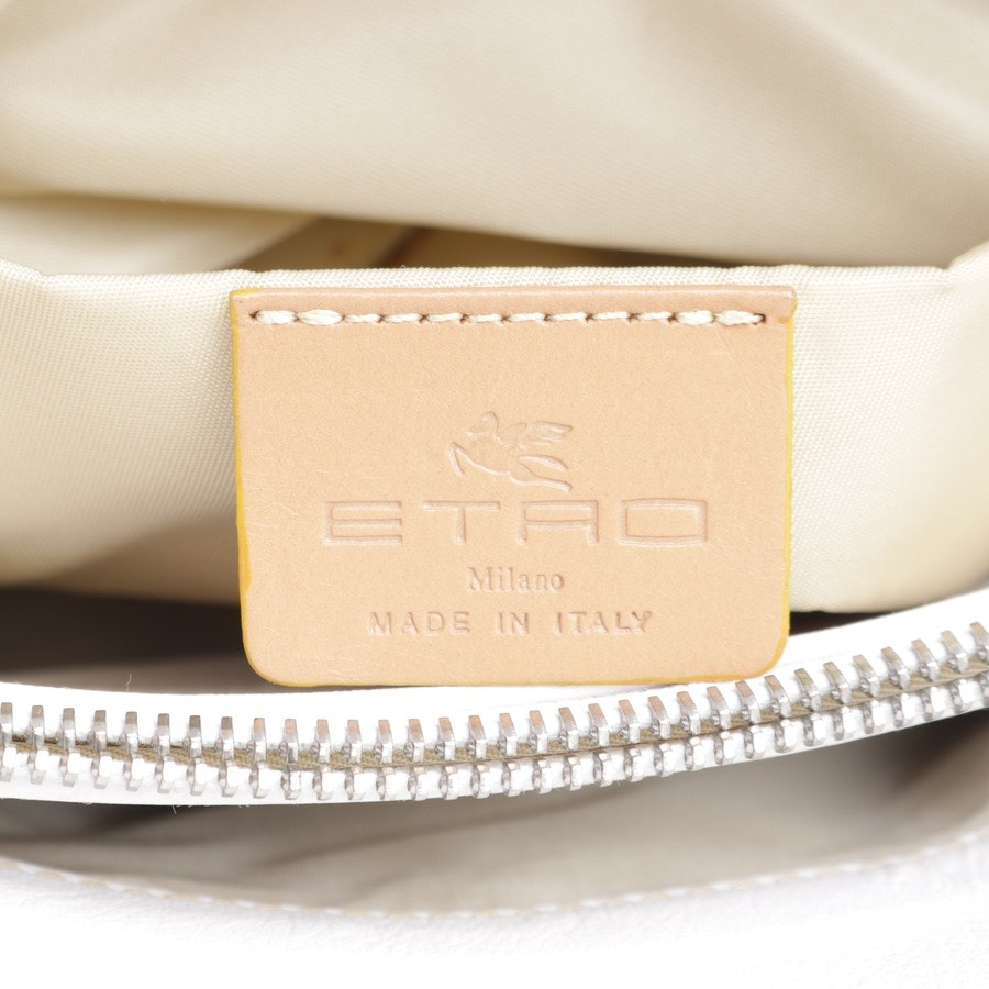 shoulder bag from Etro in beige and white