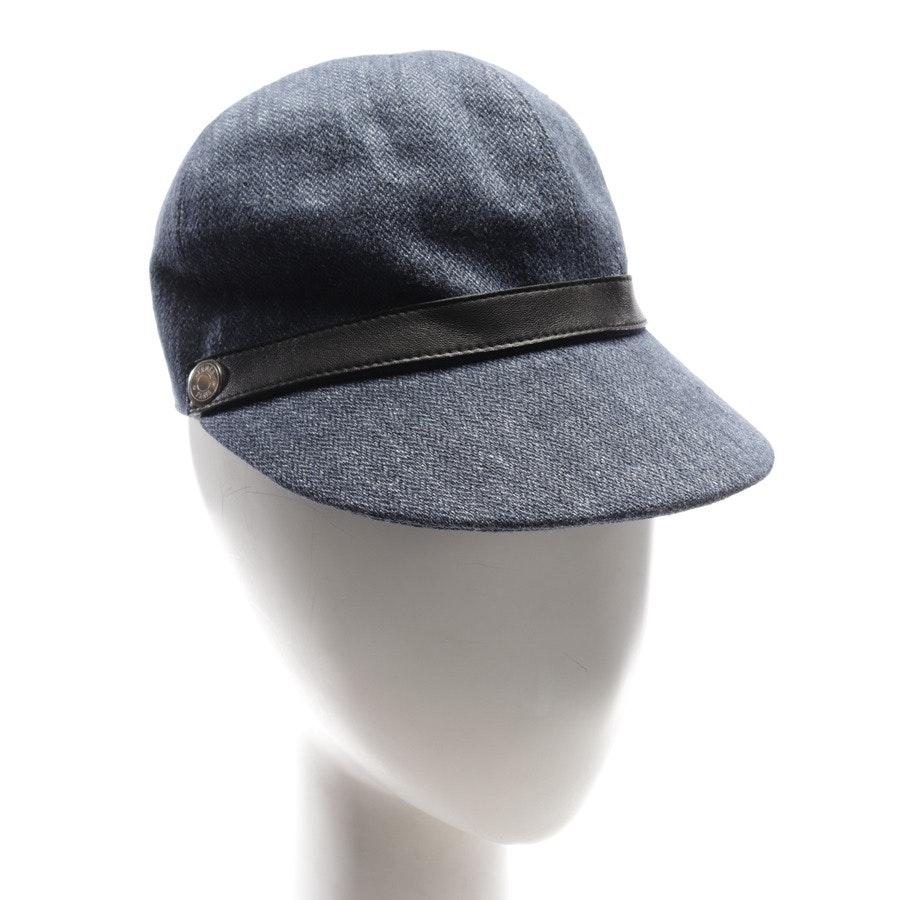 Schirmmütze von Hermès in Blau meliert und Schwarz Gr. M / 55