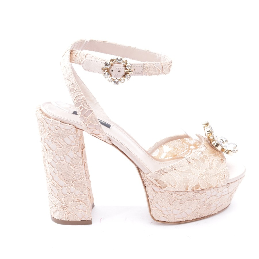 heeled sandals from Dolce & Gabbana in nude size EUR 40 - new