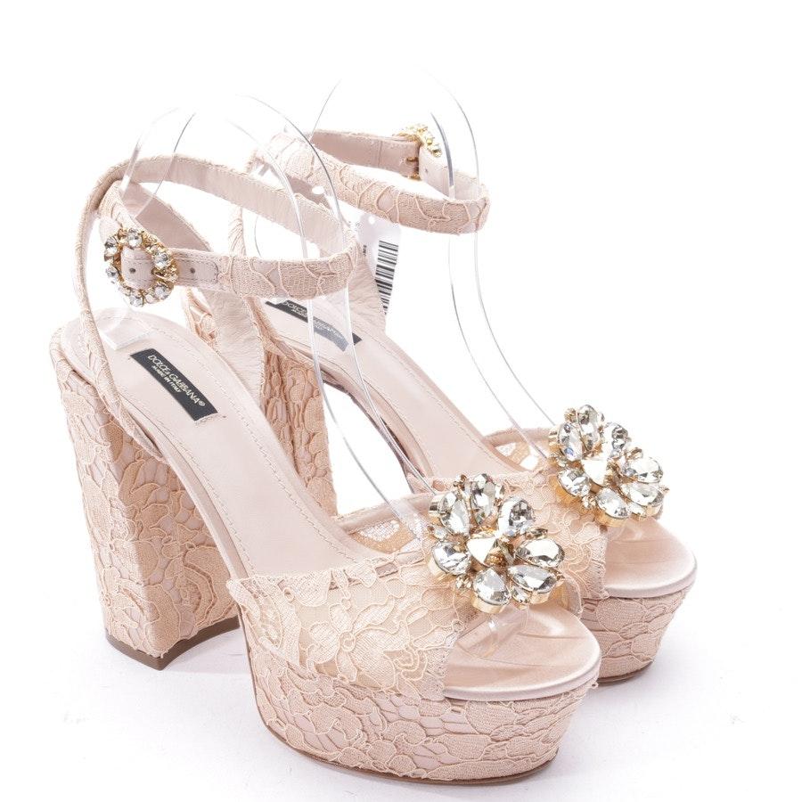 Sandaletten von Dolce & Gabbana in Nude Gr. EUR 40 - Neu