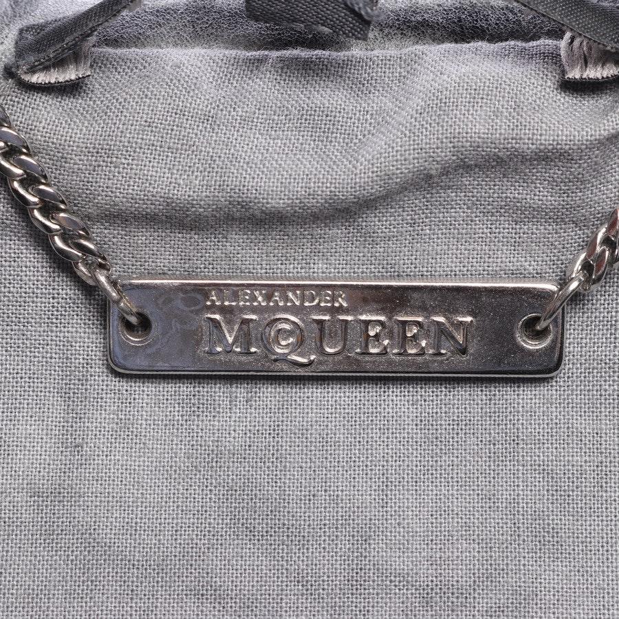 Lederjacke von Alexander McQueen in Grau Gr. 34 IT 40