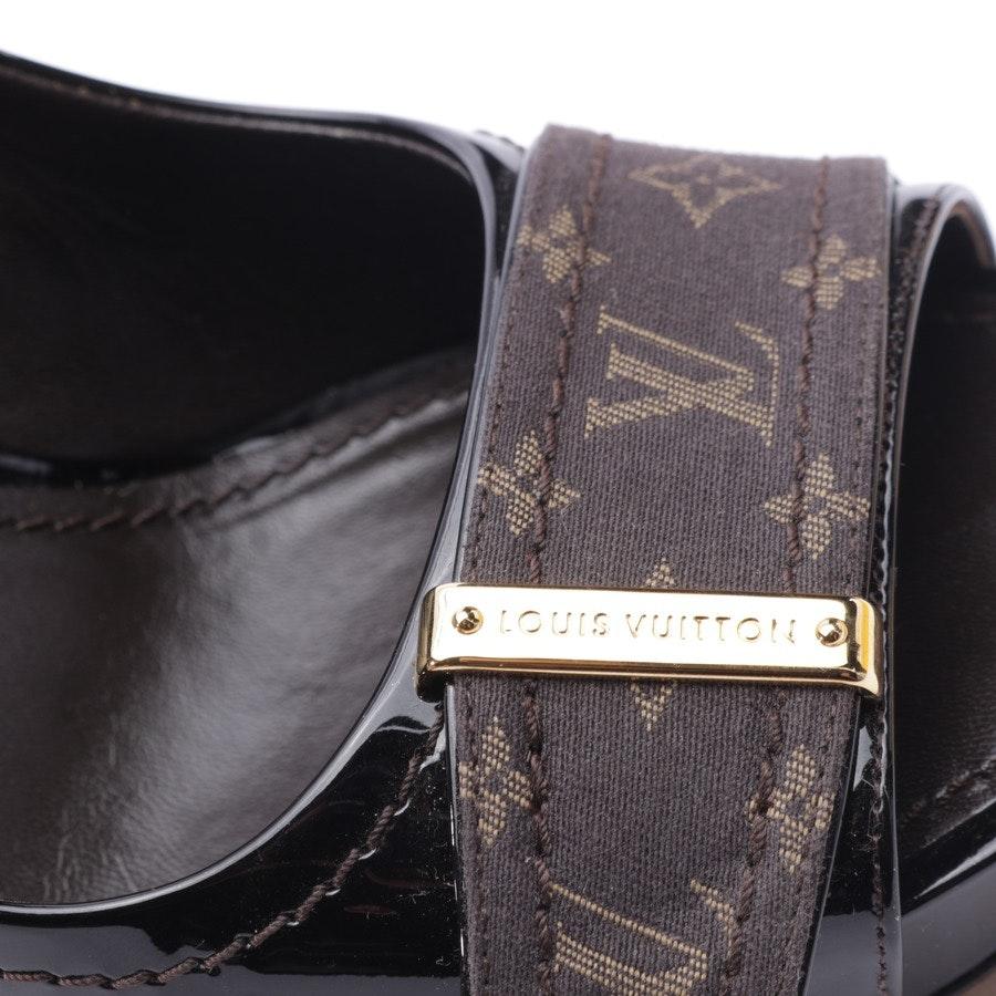 Peeptoes von Louis Vuitton in Dunkelbraun Gr. EUR 38