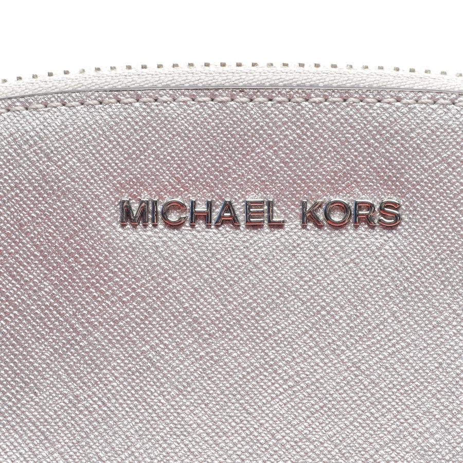 cosmetic bag from Michael Kors in silver - lg travel pouch
