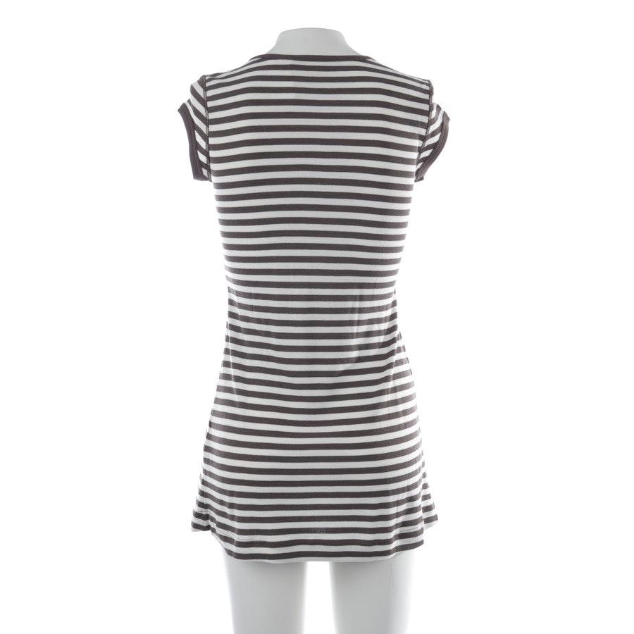 Kleid von Marc Cain Sports in Weiß und Braun Gr. 34 N1