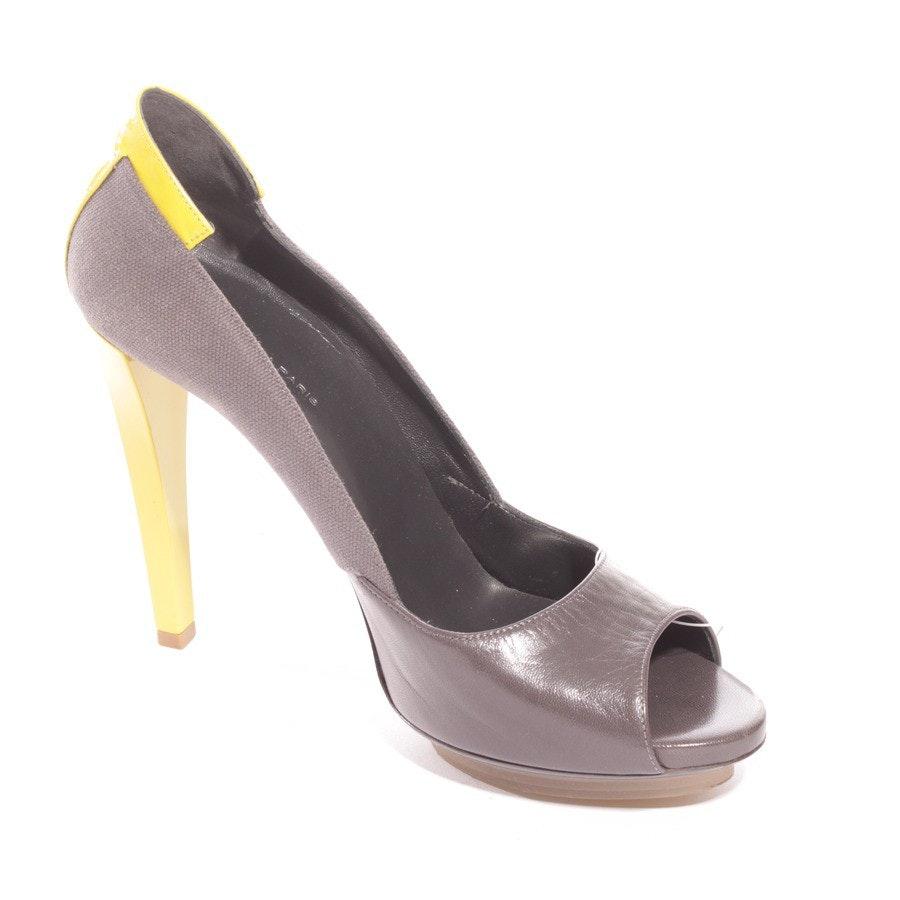 Peep Toe von Balenciaga in Grau und Gelb Gr. EUR 39,5