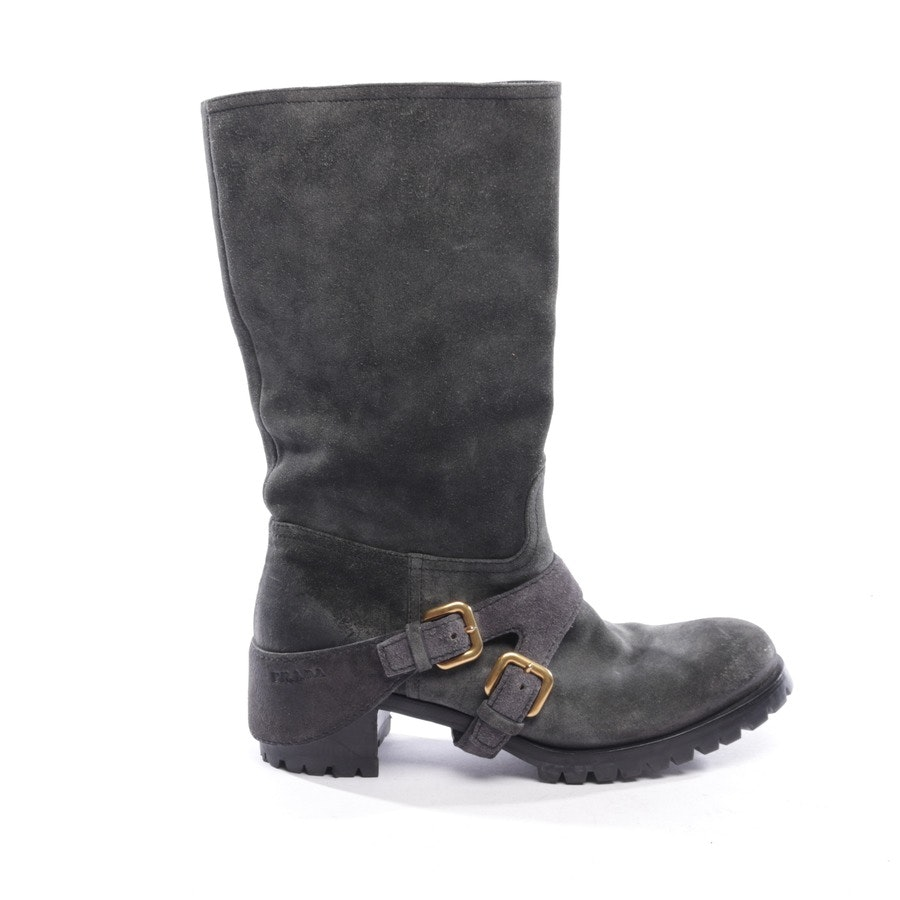 Stiefel von Prada in Granit Gr. EUR 38