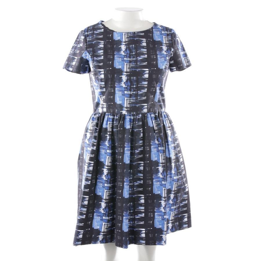 Kleid von Oscar De La Renta in Blau und Weiß Gr. 40